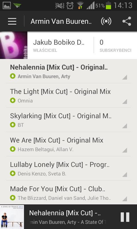 Spotify w Androidzie