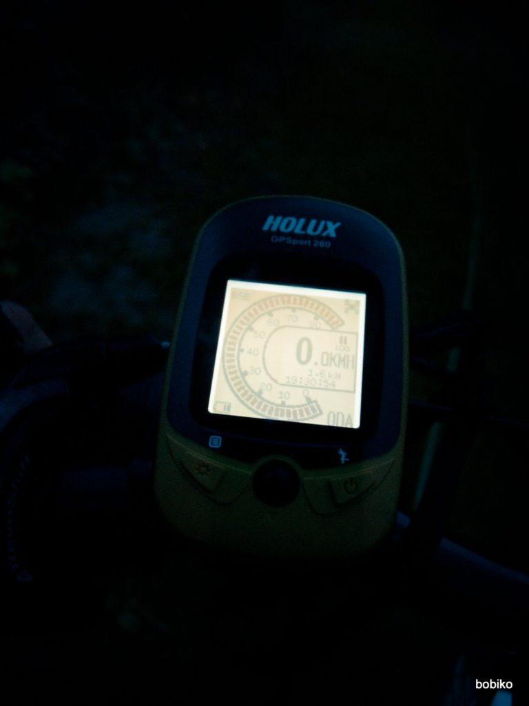 Holux GPSport 260 w nocy