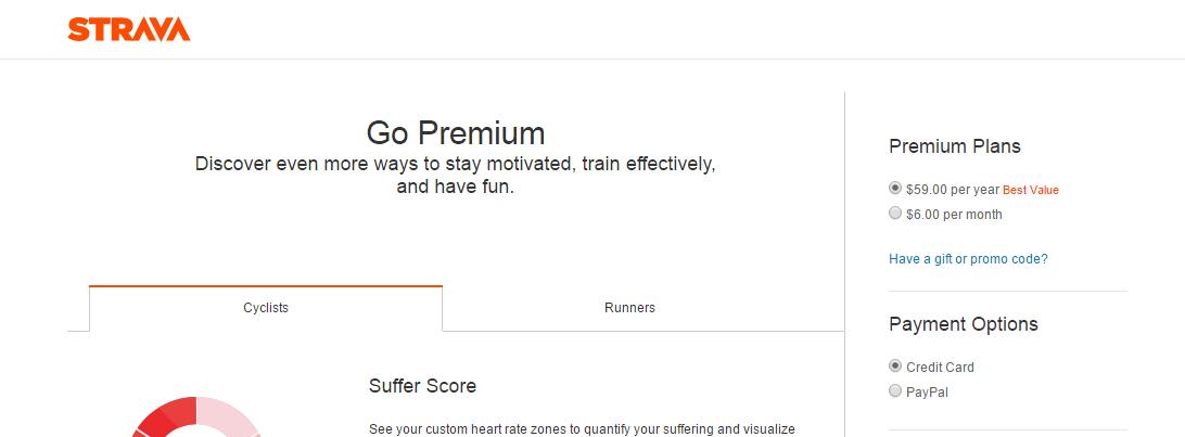 Premium wg Strava