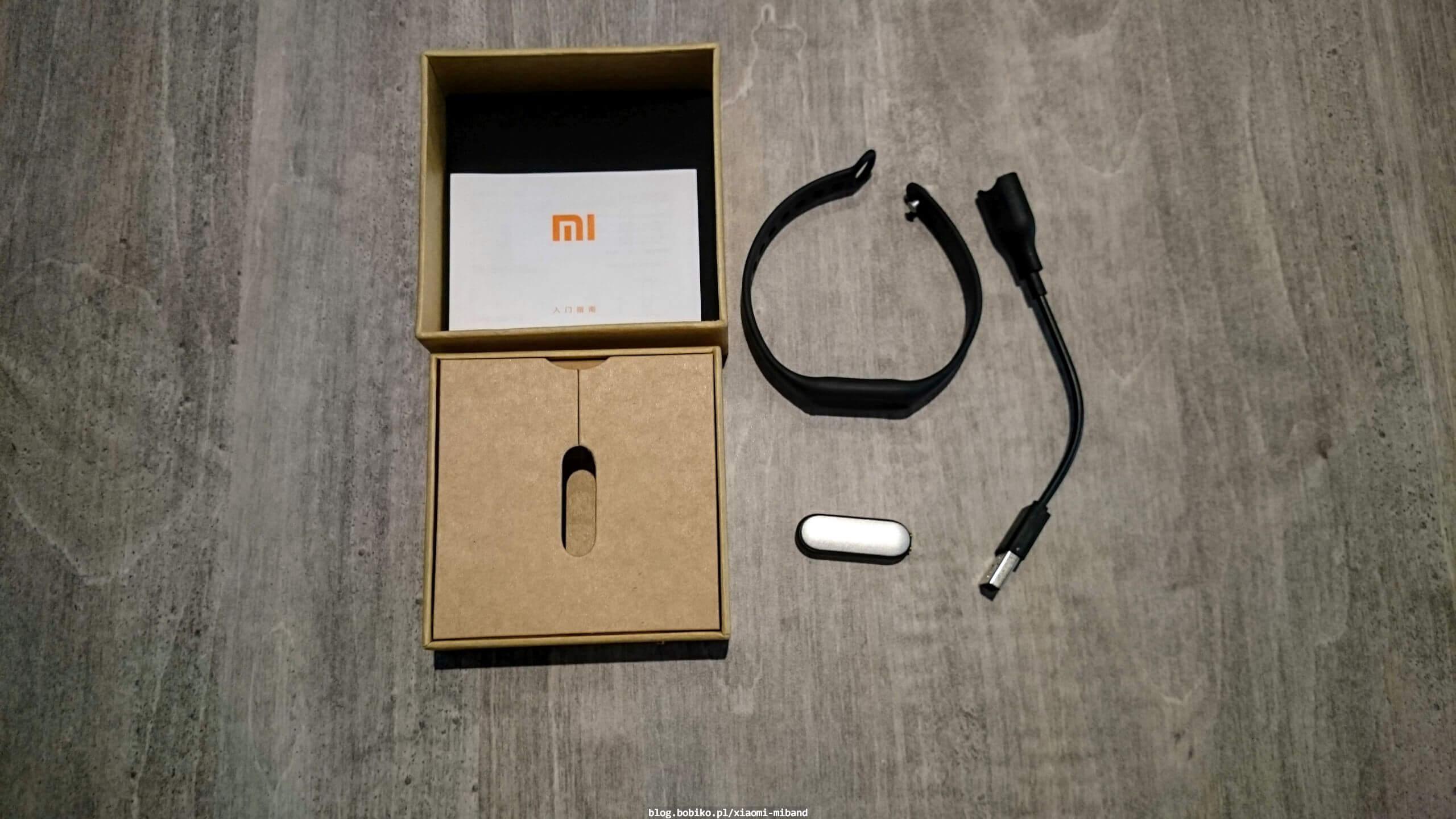 Mały unboxing paczki z Xiaomi Miband