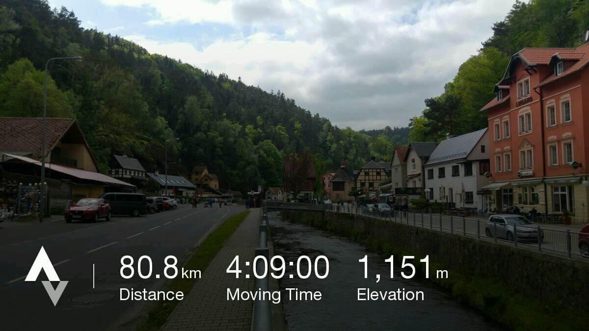 miasteczko Hřensko z nałożoną warstwą danych