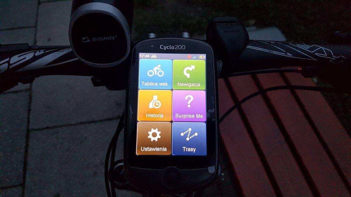 Mio Cyclo 200 - dashboard z podswietleneim